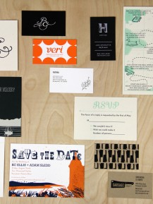 Custom Screen Printing - Stationery, Wedding Invitations, Business Cards, and Postcards.